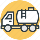 cistern, fuel, gas, water cargo, water tank icon