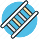 construction ladder, ladder, staircase, stairs, wood stairs icon