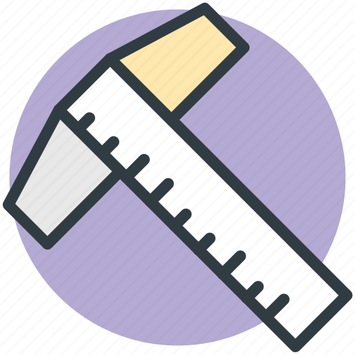 decimal ruler, geometrical, measure, ruler, scale icon