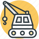 construction, construction crane, crane, machine, vehicle icon