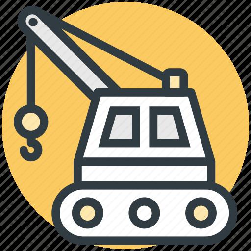 construction, construction crane, crane, machine, vehicle icon