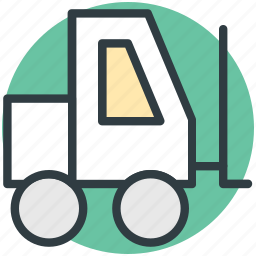 construction vehicle, golf car, golf cart, golf trolley, vehicle icon