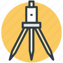 construction, survey theodolite, theodolite, tripod, tripod stand icon