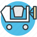 engineering, concrete mixer truck, dump truck, transport, machinery