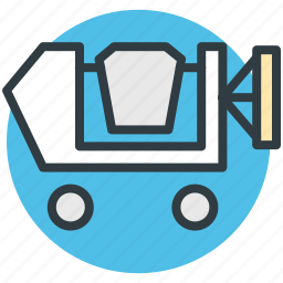 concrete mixer truck, dump truck, engineering, machinery, transport icon