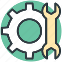 cog, custom, gear, preferences, settings, wrench gear