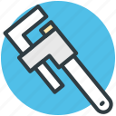 pipe wrench, repair, repairing, reparation, wrenches icon