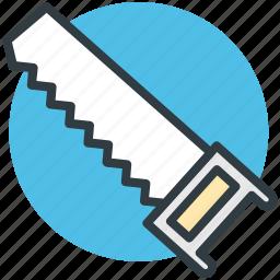 carpentry, cutting tool, hand saw, saw, saw tool icon