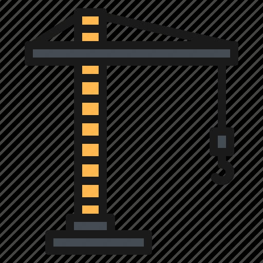 Construction, crane, hook, industry, machine icon - Download on Iconfinder