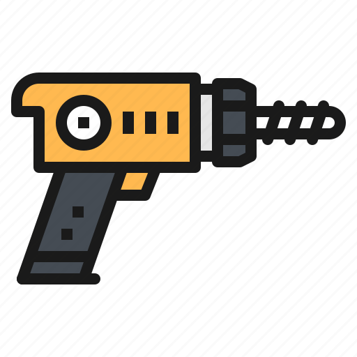 Construction, drill, equipment, screwdriver, tool icon - Download on Iconfinder