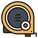 engineer, equipment, measure, tape, tool icon