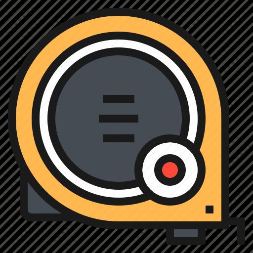 engineer, equipment, measure, tape, tool icon