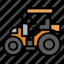 bulldozer, car, construction, fork, roller, terrain, truck icon