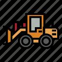 bulldozer, construction, fork, loader, roller, rough, truck icon