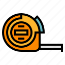 measuring, tape icon