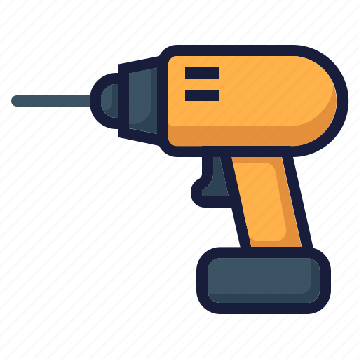 architecture, construction, drill, driller, industry, labor, repair icon