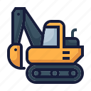 architecture, construction, digger, excavator, industry, labor, machinery