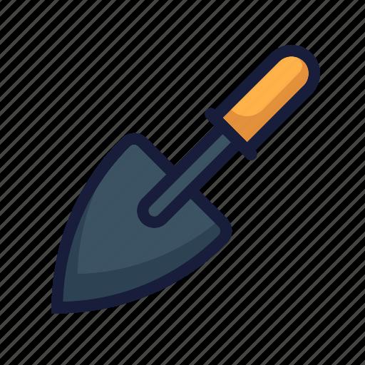architecture, construction, gardening, industry, labor, shovel, trowel icon