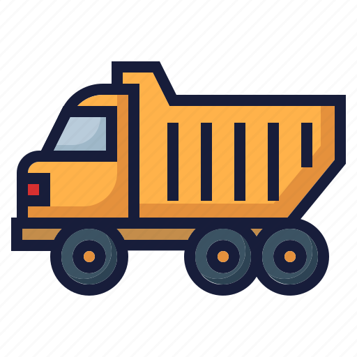 architecture, construction, industry, labor, transport, truck, vehicle icon