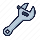 architecture, construction, industry, labor, setting, spanner, wrench icon