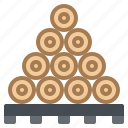 construction, firewood, lumber, timber, wood icon