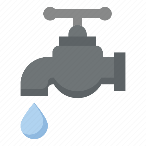 architecture, construction, faucet, industry, labor, tap, water icon