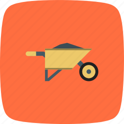 construction, trolley, wheel barrow, wheelbarrow icon