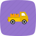 delivery, loader, van icon