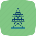 electric, electric tower, electricity, power icon