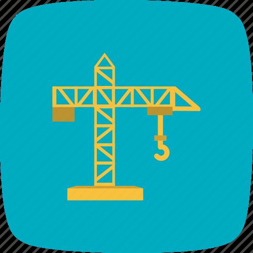 building, construction, crane, machine icon