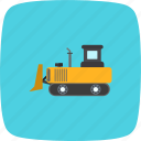 bull dozer, bulldozer, construction, machine icon