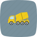 concrete, mixer, vehicle icon