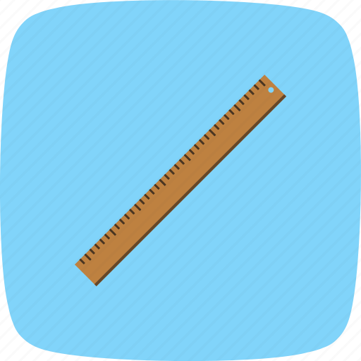 geometry, measurement, ruler icon