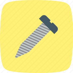bolt, nail, screw, tool icon