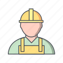 construction, employee, engineer, worker icon
