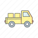 delivery, loader, truck, van icon