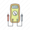 meter, volt, voltage, voltmeter icon