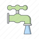 pipe, tap, water, watertap icon