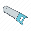 blade, crosscut, hand saw, saw icon