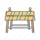 barrier, construction, road, traffic icon