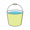 bucket, fill, pot, water icon