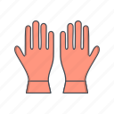 gloves, work, working icon