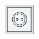 electric, plug, power, socket icon