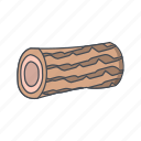 piece, tree, wood, wooden icon