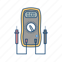 meter, technician, voltage, voltmeter, work icon