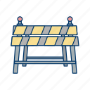barrier, carrier, construction, road, traffic icon
