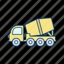 concrete, construction, machine, mixer, vehicle icon