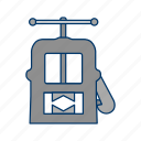 construction, instrument, tool, vise, work icon