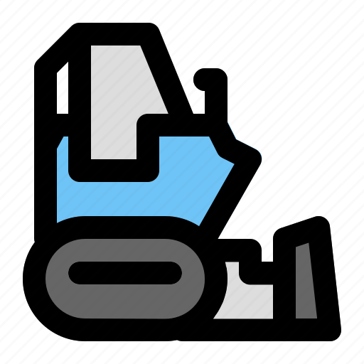 Bulldozer, construction, industrial, industry, project, site, work icon - Download on Iconfinder