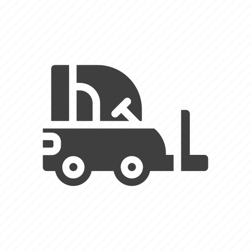 build, construction, forklift, tool icon